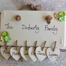 Family Names Modern Decorative Indoor Signs/Plaques
