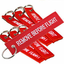 1PC Red Custom Tag Bag Embroidered Keychain Luggage Remove Before Flight Mark