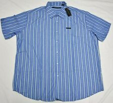 Sean John Button Down Shirt Men Striped Logo Pocket Woven Estate Blue Urban P499