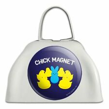 Peeps Chick Magnet with Bunny Licensed Cowbell Cow Bell Instrument