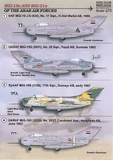 Print Scale Decals 1/72 MIKOYAN MiG-19 & MIKOYAN MiG-21 ARAB AIR FORCES