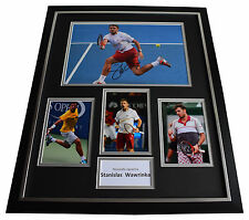Stanislas Wawrinka SIGNED FRAMED Photo Autograph Huge display Tennis AFTAL COA