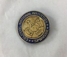 Orig Colonial Invitation Fort Worth Golf Tournament Metal Badge Pin Sponsor 87'