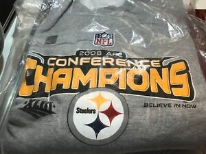 Pittsburgh Steelers 2008 AFC Conference Champion Sweatshirt - XL - NWT