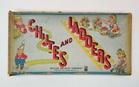 Vintage Chutes and Ladders Board Game - Milton Bradley -1943 INCOMPLETE