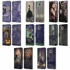 OFFICIAL SELINA FENECH GOTHIC LEATHER BOOK WALLET CASE COVER FOR MOTOROLA PHONES