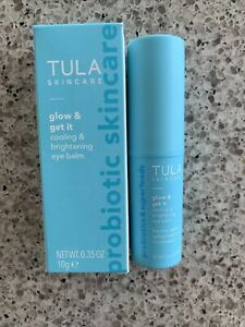 BNIB TULA Glow & Get It Cooling & Brightening Eye Balm 0.35 oz/10g FULL SIZE NEW