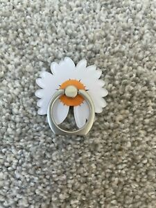360 Rotating Crystal Finger Ring Stand Holder For Cell iPhone-FLOWERS/HEART NEW