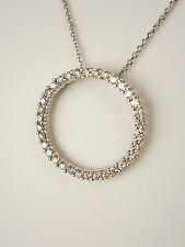 "DAZZLING DIAMOND PENDANT ""CIRCLE OF LIFE"" 1.0 CARAT 14kt WHITE GOLD"