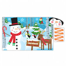 Pin the Nose on the Snowman Kids Office Christmas Game Activity