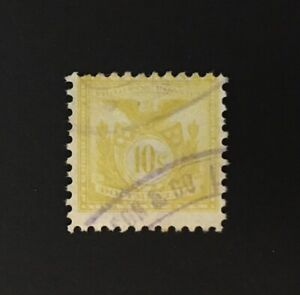 PHILIPPINE Islands Revenue 10 cents Bright Olive Documentary, perf 11, used - PI