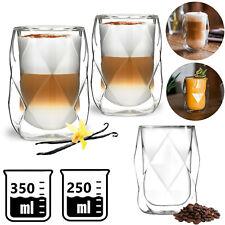 Latte Macchiato Gläser DOPPELWANDIG Thermogläser 2 tlg. SET Becher Tassen Kaffee