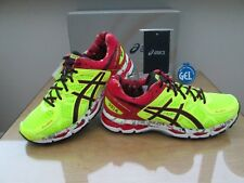 ASICS GEL-KAYANO 21 NYC édition limitée Rouge Néon Running Baskets Taille 8 EU 42.5