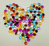 100-1000 Diamant cristal decoration table 4.5 mm couleur mixte fete mariage