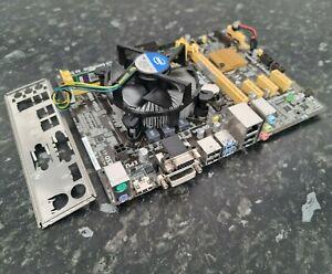 i5-4690K @3.50GHz Q. Core 4GB DDR3 Asus H81M-PLUS CPU Ram Mainboard Combo EA2607