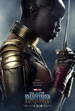 Black Panther Movie Poster (24x36) - Boseman, Lupita Nyong'o, Danai Gurira v4