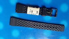 BRACELET MONTRE  /// watch bands PVC    MARQUE  COBRA   / 14mm /  NOIR //  QS 35