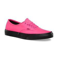 Vans Authentic (Black Outsole) Neon Pink/Black Sole- Women's Size 7.5