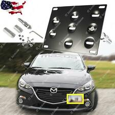 Tow Hook License Plate Bumper Mount Bracket Fit Mazda 3 Mazda6 CX5 MX5 Miata