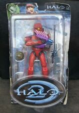 Red Spartan Halo 2 Series 4 Action Figure Joyride UNSC Sniper Rifle Needler Bomb