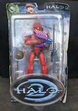 Red Spartan Halo 2 Series 4 Action Figure Joyride UNSC Sniper Rifle Needler Bomb