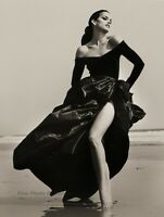 1994 HERB RITTS Fashion Super Model CINDY CRAWFORD Malibu Beach Photo Art 12x16