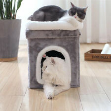Small Foldable Cat Climbing Frame Against the Wall Cat Hole Jumping Platform