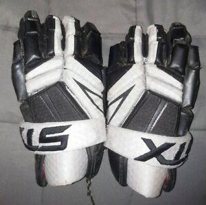 "STX 12"" Lacrosse Gloves black and gray 12 BK/XX DK"