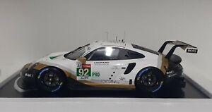 Model Car Die Cast 1:12 Porsche 911 Spark The Mans 2019 Modeling Static