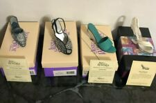 Just The Right Shoe Lot Of (4) In Original Boxes White Pearl Grey Black Stones