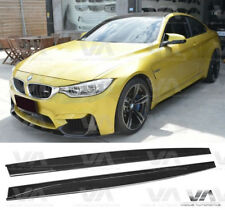 BMW M3 M4 F80 F82 F83 3D STYLE CARBON FIBER SIDE SKIRTS EXTENSION BLADES