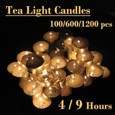Tea Light Candles Bulk 4 & 9 Hour Tea Lights Tealight Tealights Unscented Candle