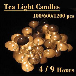Tea Light Candles Bulk 4 & 9 Hour Tea Lights Tealight Tealights Unscented Candle