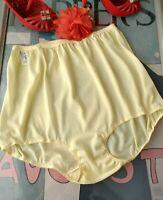 1950's BE-FREE vintage SHEER pale yellow acetate panties - 2XL size 9 OLD STOCK