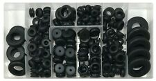 (180) Rubber Grommet Eyelet Ring Gasket Assortment Kit for Firewall Wire Harness