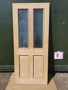 """DIE4170 Howdens Rockingham Oak Glazed 4 Panel 2'9"""" Int. Hardwood Door"""