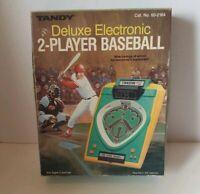 VINTAGE TANDY DELUXE ELECTRONIC 2-PLAYER BASEBALL Radio Shack Handheld Game 1982