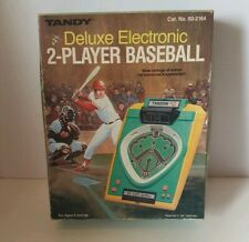 VINTAGE TANDY DELUXE ELECTRONIC 2-PLAYER BASEBALL Radio Shack Handheld Game 1982