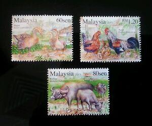 *FREE SHIP Malaysia Farm Animal 2015 Chicken Duck Chinese Lunar Year (stamp) MNH