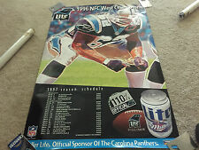 VINTAGE POSTER CAROLINA PANTHERS 1996 WESTERN CONFERENCE CHAMPIONS 30 X 20