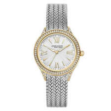 Anne Klein New York 12/2291SVTT Women's 35mm Gold+Silver Tone Mesh Watch New