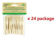 Bamboo Wooden Catering Paddle Skewers Disposable Finger Food Cocktail BBQ