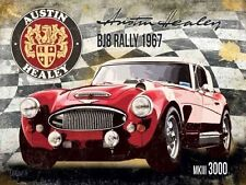 Austin Healey BJ8 Rally 1967 MKIII 3000 Vintage Old Car, Large Metal/Tin Sign