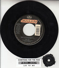 "BON JOVI  Something For The Pain 7"" 45 rpm record + juke box title strip RARE!"
