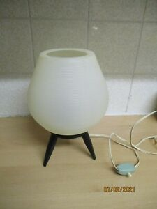 1950's or 60'S ATOMIC BLACK AND WHITE ROCKET LAMP KITSCH ROCKABILLY PLASTIC COOL