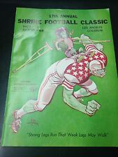 1968 North vs South Vintage Football Program (L6809)
