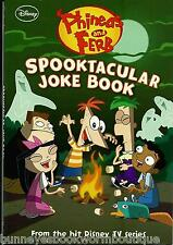 SPOOKTACULAR JOKE BOOK Phineas and Ferb DISNEY Paperback NEW Stories RIDDLES
