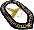 Blue Lodge Working Tool Golden Collar Chain + Senior Warden Pendant DMR-400GB+SW