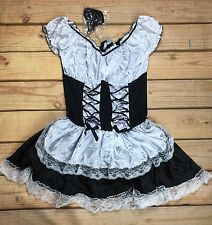 Halloween Women's French Kiss Costume Party Maid Trick or Treat Size 1X