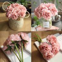 28cm 5 Heads Bunch Artifical Peony Silk Flower Hydrangea Wedding Home Decor Hot